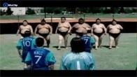 Đá bóng đỉnh cao giữa Sumo vs Beckham, Petit, Carlos