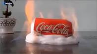 Điều gì sẽ xảy ra khi ta đốt lon nước ngọt có ga?