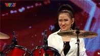 Vietnam's Got Talent 2016 - Hot girl đánh trống Mi Ngân