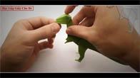 Gấp giấy origami - Gấp khủng long bạo chúa bằng giấy đơn giản