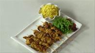 Hướng dẫn làm món gà nướng xiên xốt đậu phộng