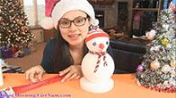 Hướng dẫn làm người tuyết bằng xốp cho mùa Giáng Sinh