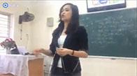 """Cô giáo xinh đẹp dạy học sinh sử dụng """"ba con sâu"""""""