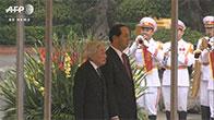 Toàn cảnh lễ đón vua và hoàng hậu Nhật Bản tại Phủ Chủ tịch