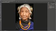 Biến cụ già thành trẻ đẹp như thời con gái bằng Photoshop