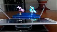 Biến điện thoại thành máy chiếu phim 3D hologram ảo diệu